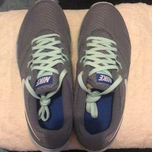 Gray Nike sneakers